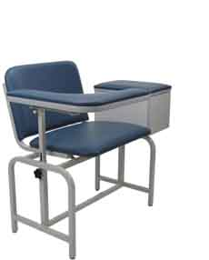 Extra Large Padded Blood Drawing Chair with Cabinet - 2574 XL