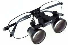 Loupes On Wire Frame With Glasses