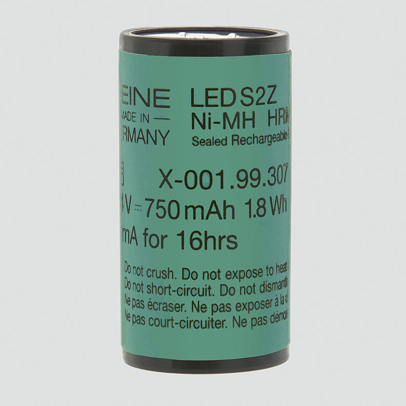 HEINE LED S2Z rechargeable battery 2.5 V NiMH for Short F.O. LED Laryngoscope Handles