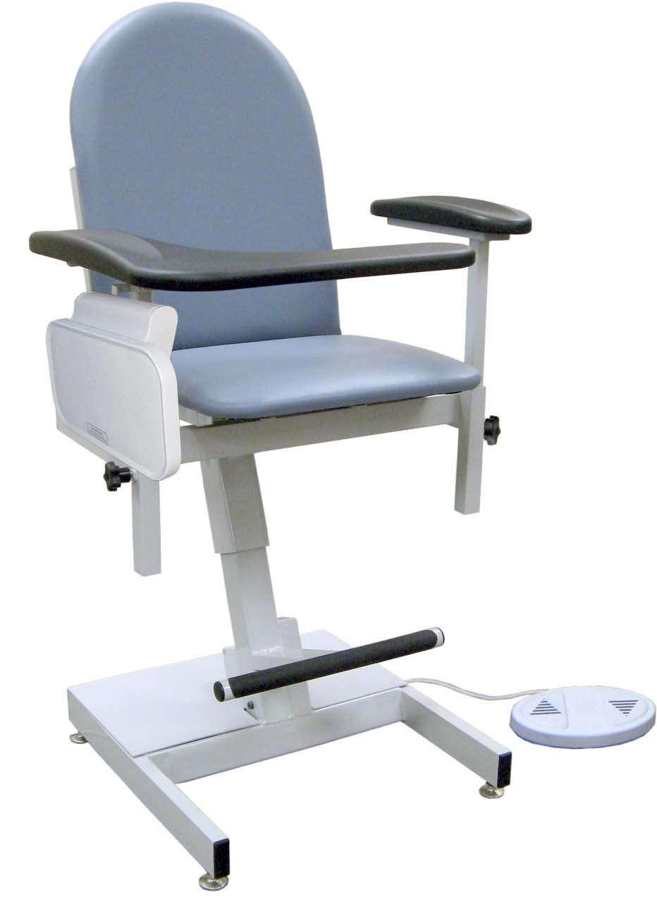 Power Designer Blood Drawing Chair - Padded vinyl