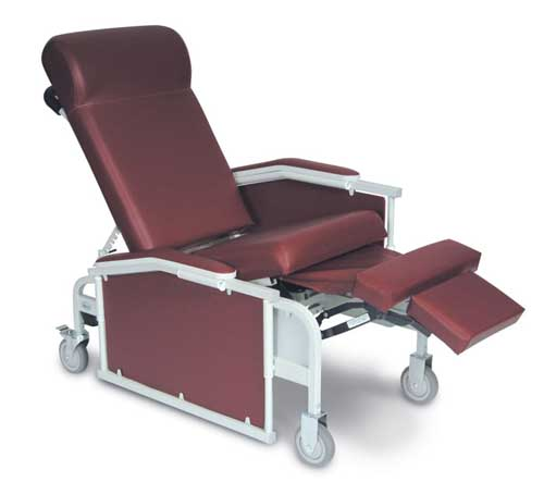 5271 - Drop Arm Convalescent Recliner with tray